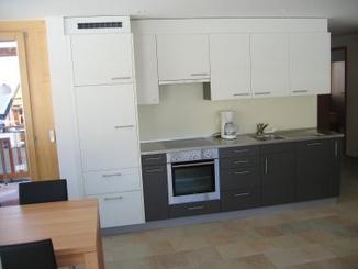 Küche von der Wohnung Bella Vista Dufourspitze, Riederalp Mitte: Küche von der Wohnung Bella Vista Dufourspitze, Riederalp Mitte