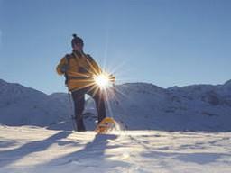 Schneeschuhlaufer bei herrlichem Wetter: Schneeschuhlaufer bei herrlichem Wetter