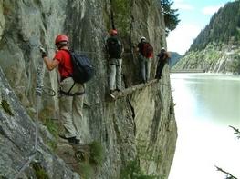 Klettersteig Aletsch rund um den Stausee