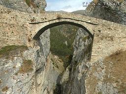 Die Teufelsbrücke bei Leuk: Die Teufelsbrücke bei Leuk