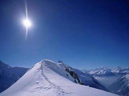 Hockenhorn Aussicht auf die Berge im Winter: Hockenhorn Aussicht auf die Berge im Winter