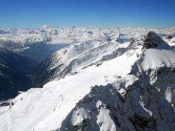 Ausblick vom Hockenhorn auf die Walliserberge: Ausblick vom Hockenhorn auf die Walliserberge
