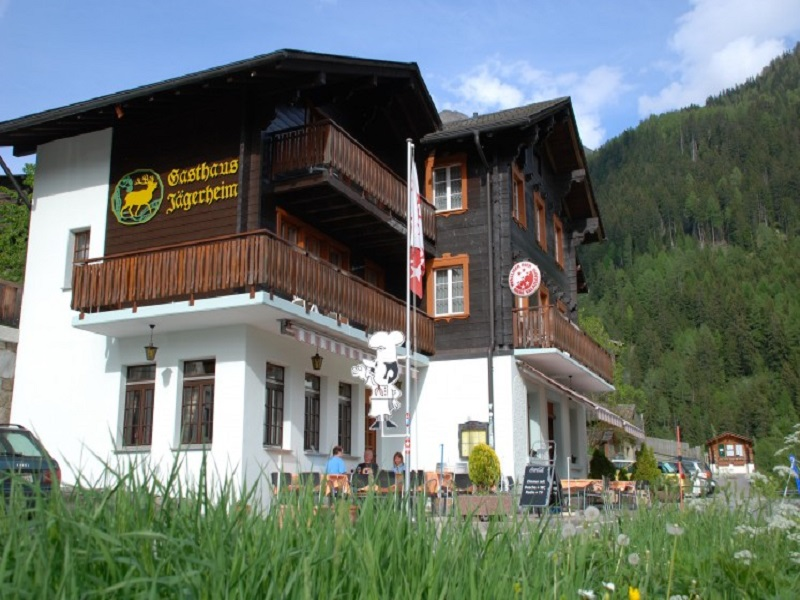 Das Gasthaus Jgerheim von draussen.: Das Gasthaus Jgerheim von draussen.