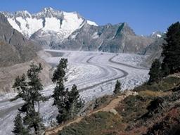 Blick auf den Aletschgletscher: Blick auf den Aletschgletscher