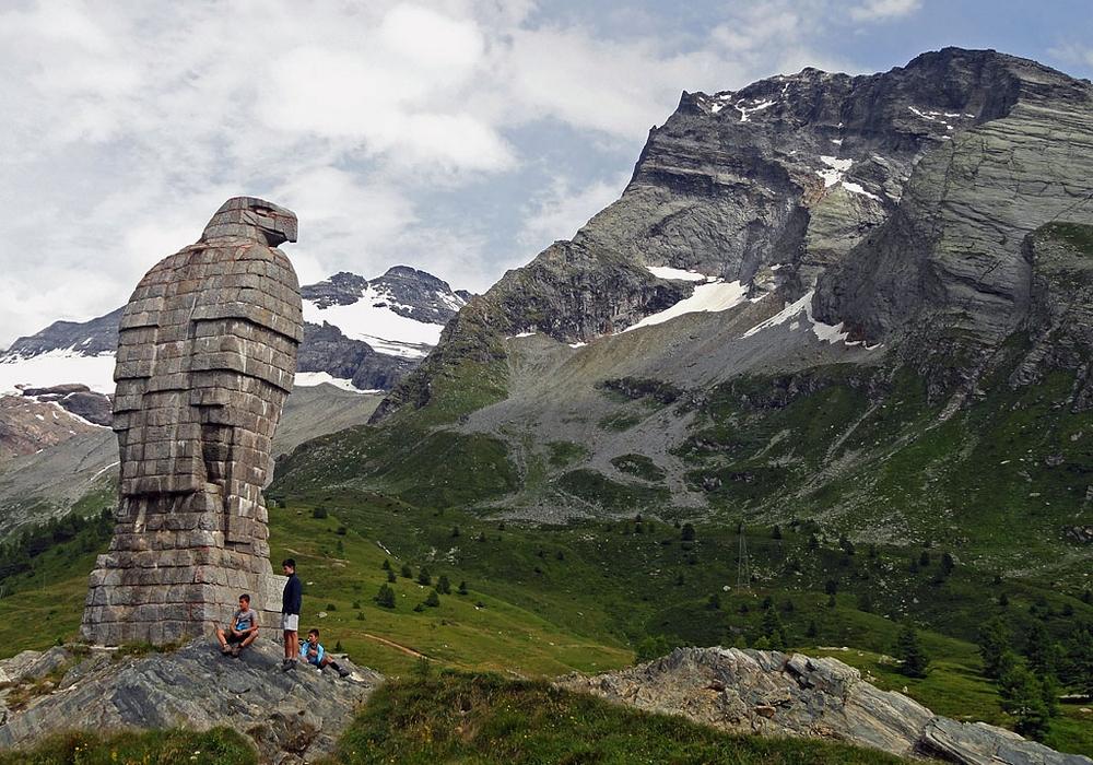 Simplonpass mit Blick auf die Belalp, Rosswald und Rothwald: Simplonpass mit Blick auf die Belalp, Rosswald und Rothwald