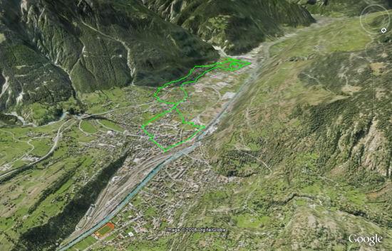 Karte: Kulturweg Landmauer Gamsen