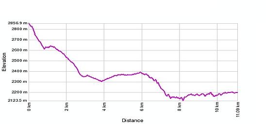 Höhenprofil: Eggishorn - Märjelensee - Fiescheralp