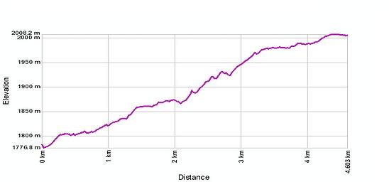 Höhenprofil: Engiloch - Alter Spittel - Simplonpass