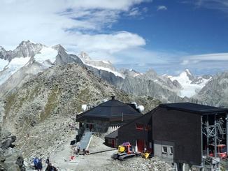 Bergstation auf dem Eggishorn : Bergstation auf dem Eggishorn